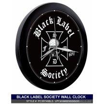 Black Label Society Logo Black Clock