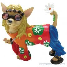 Aye Chihuahua Flower Child Hond Beeld