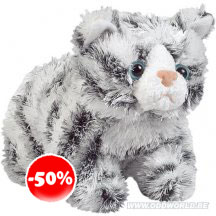 Snuffles Grey Tabby Cat Plush