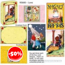 Mary Engelbreit Love Card Set With Decorative Tin