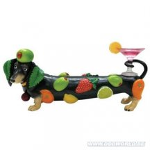 Hot Diggity Dogs Coctail Weenie Dog Statue