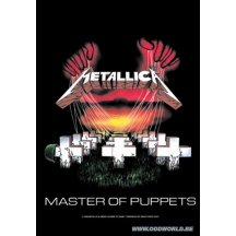 Metallica Master Of Puppets Textiel Poster Vlag