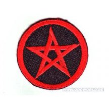 Pentagram Red & Black Patch