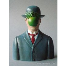 Magritte The Son Of Man Statue