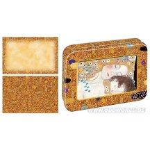 Gustav Klimt Card Set With Decorative Tin