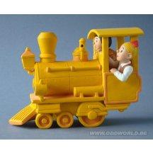 Bob Et Bobette Locomotive Statue