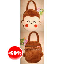 Tum Tum Yum Pop Monkey Cute Small Hand Bag Wallet Plush